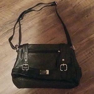 Black relic shoulder bag